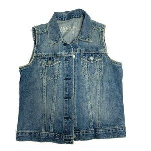 Gap 1969 Icon Vest Small Collier Womens Jacket Sm